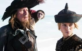 Обои Geoffrey Rush and Keira Knightley: Keira Knightley, Пираты Карибского моря, Geoffrey Rush, Пираты карибского моря