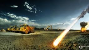 Обои 2012: Вольво, Многотонники, Огненное небо, Метеориты, 2012