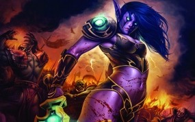Обои World of WarCraft: Битва, Эльф, World of Warcraft, Другие игры