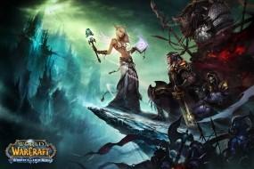 Обои World of WarCraft: Воин, World of Warcraft, Эльфы, Маг, Другие игры