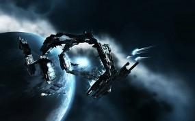 Обои EVE Online: Планета, Игра, Туманность, Корабли, Другие игры