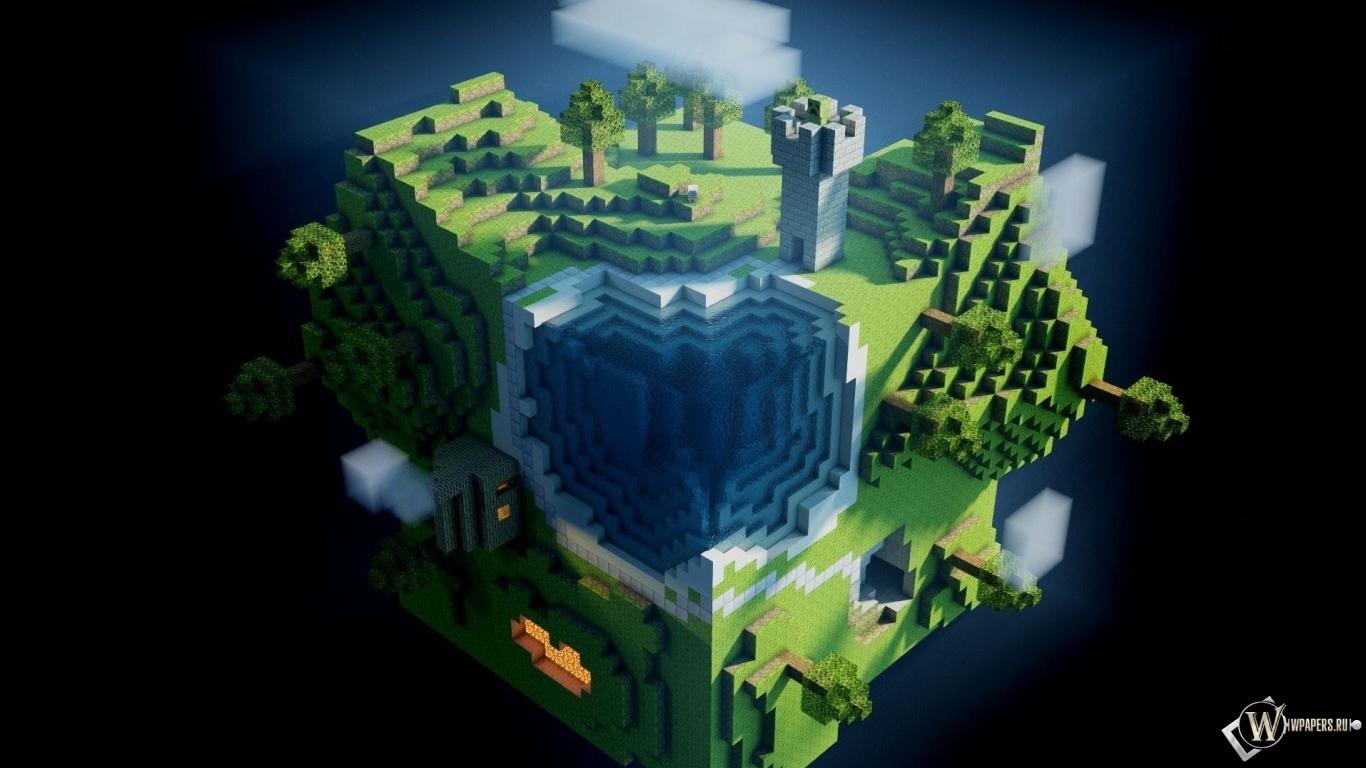 Minecraft игры minecraft 1366x768 картинки