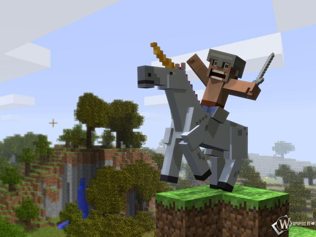 Коне minecraft игры minecraft 1024x768 картинки