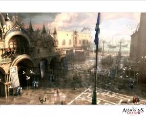Обои Дворец Дожей: Венеция, Утро, Игра, Дворец, Assassins creed, Assassins creed