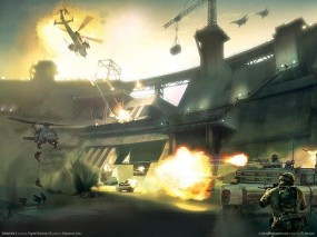 Обои Battlefield 2: Война, Вертолеты, Battlefield, Battlefield