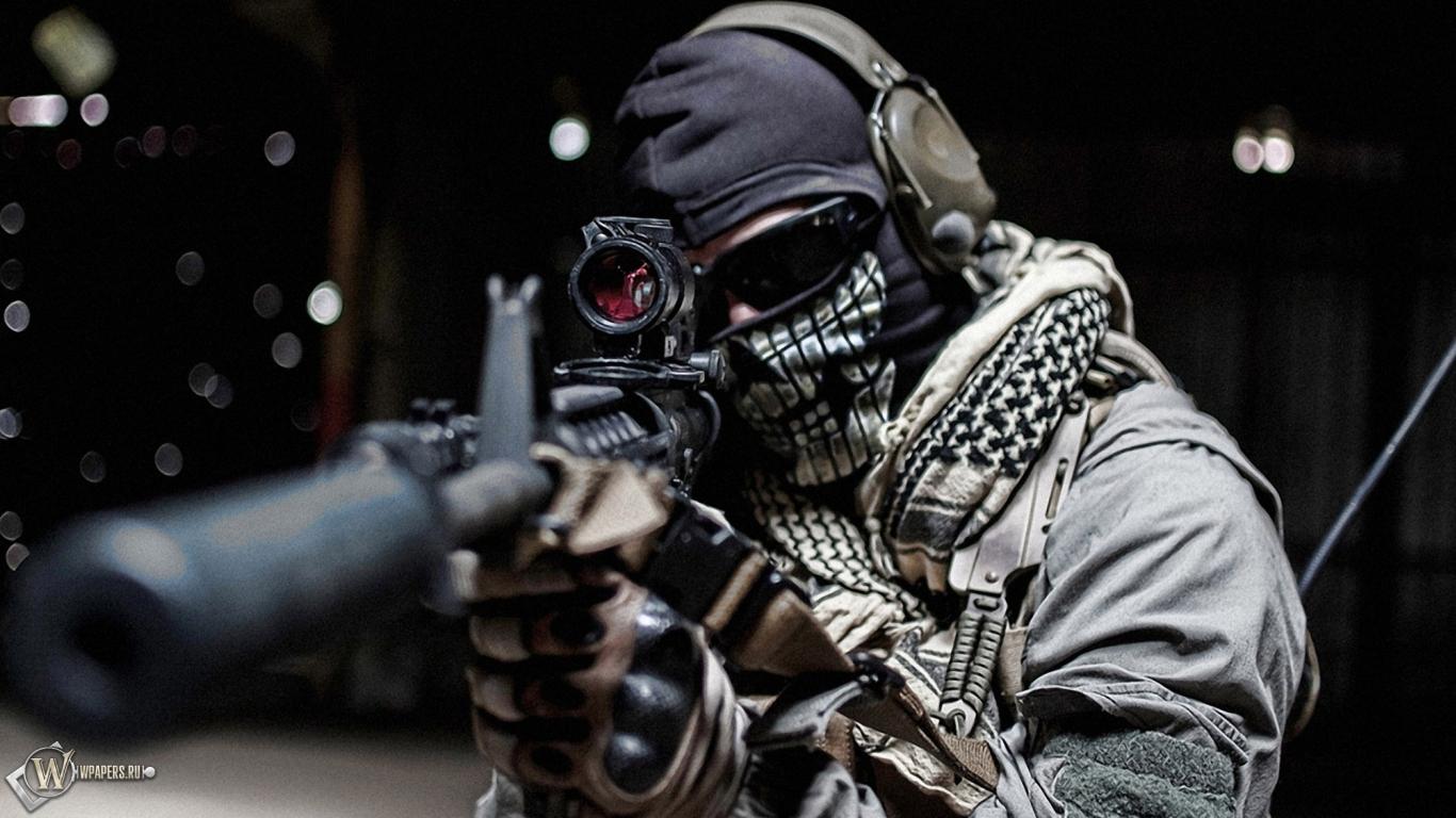Warfare ghost автомат обоев 23 маска обоев