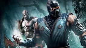 Обои Саб-Зиро и Кратос: Кратос, Mortal Kombat, Ниндзя, Саб-Зиро, Боец, Мортал Комбат, MK, Mortal Kombat