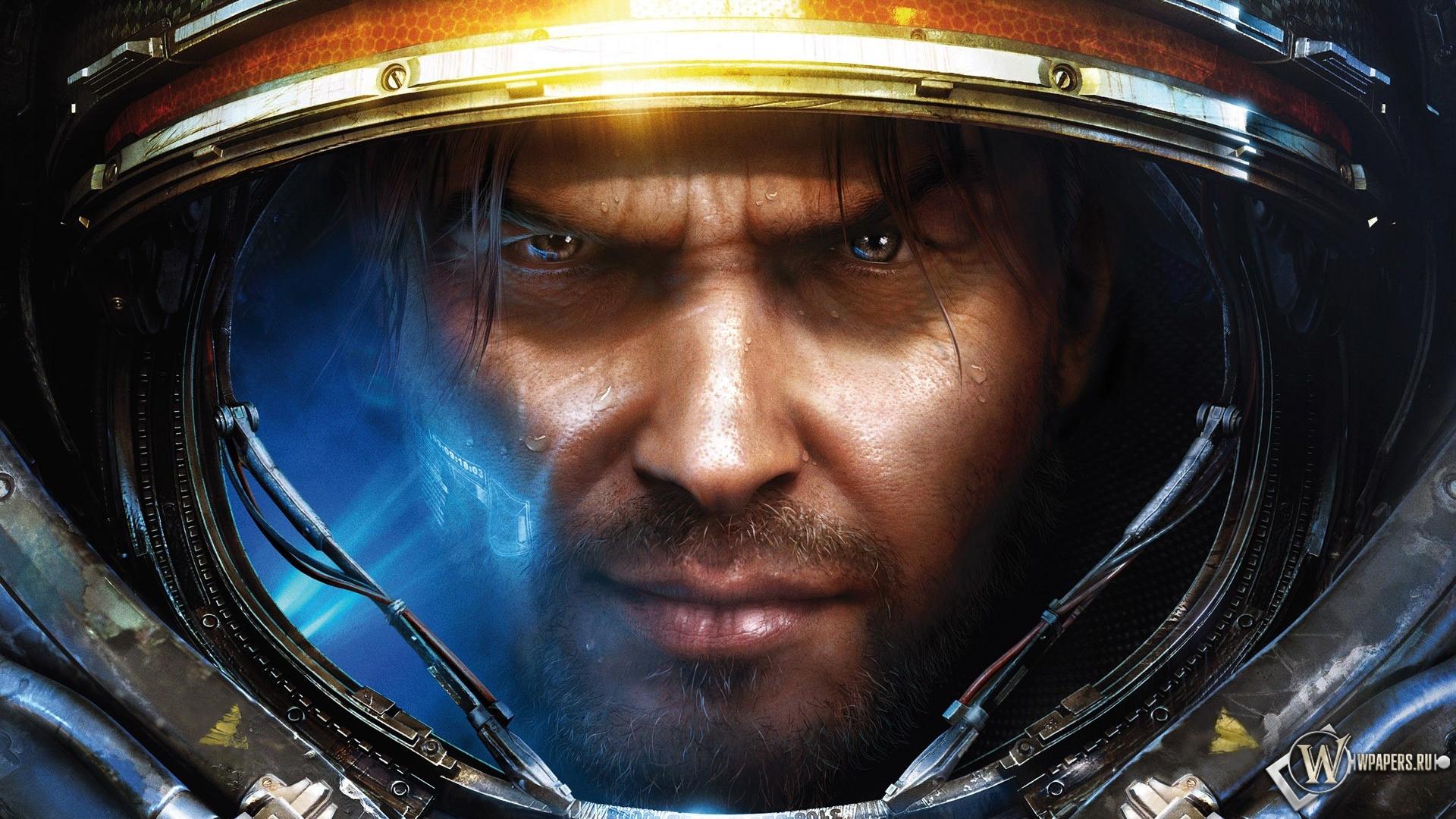 Обои, Star Сraft 2 хуман, Лицо, Старкрафт, StarCraft, Blizzard