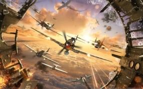 Обои War Thunder: World of Planes: Самолёты, Стрельба, Бой, War Thunder, Другие игры