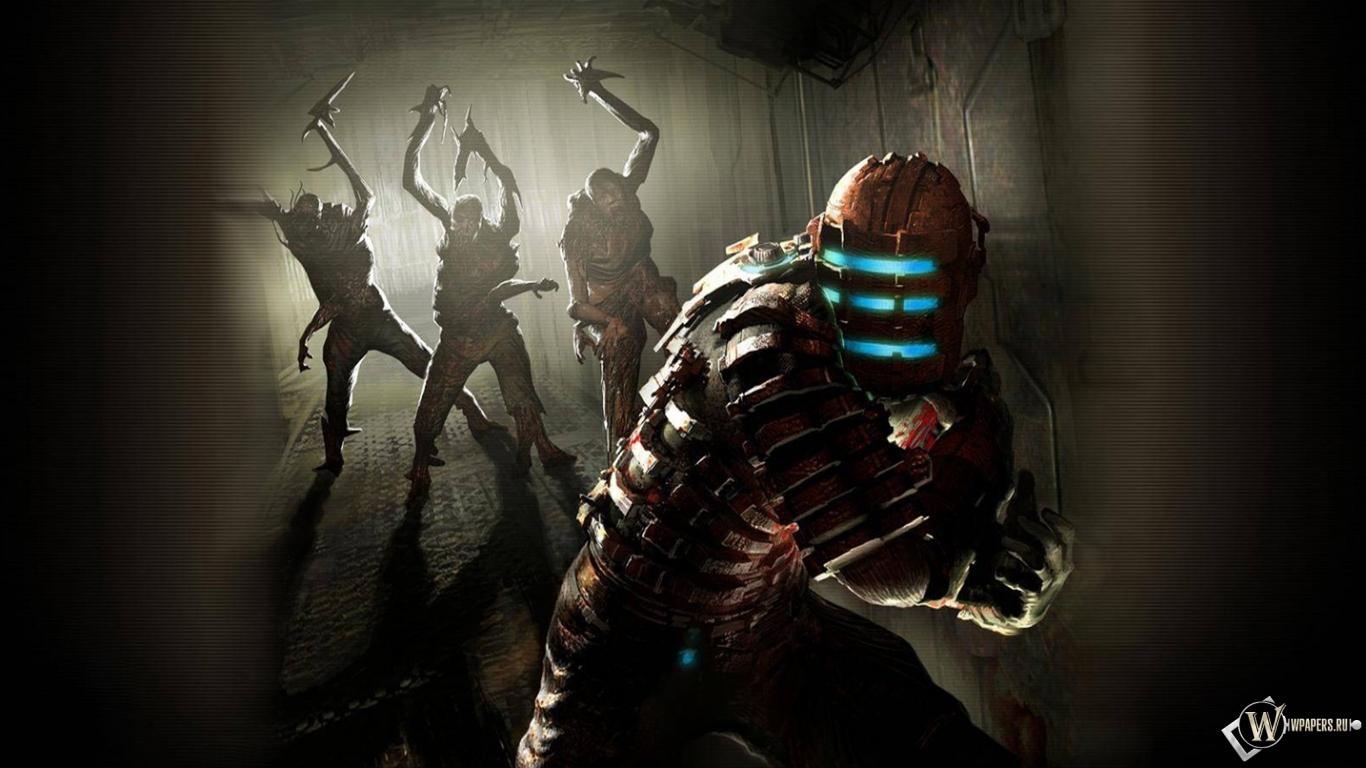 Человек мутанты dead space 1366x768 картинки