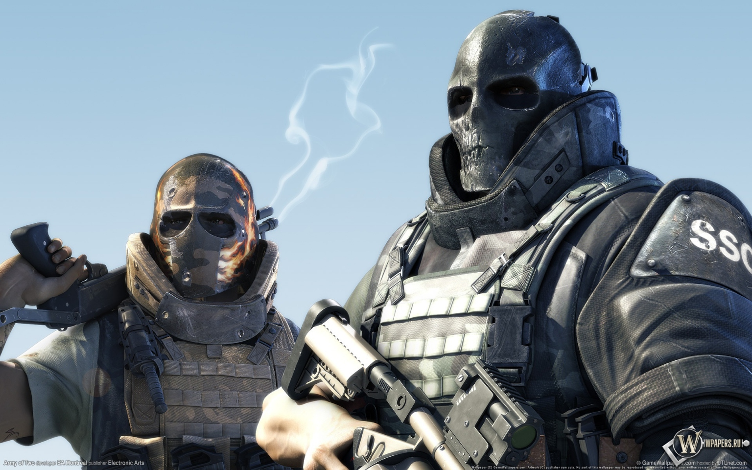 Army of two оружие солдаты маски army of two