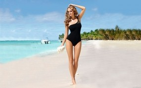 Обои Девушка на пляже: Пляж, Море, Девушка, Девушки