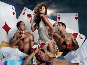 Обои Мужчина и женщина: Девушка, Eva Mendes, Ева Мендес, Карты, Мужчины, Девушки