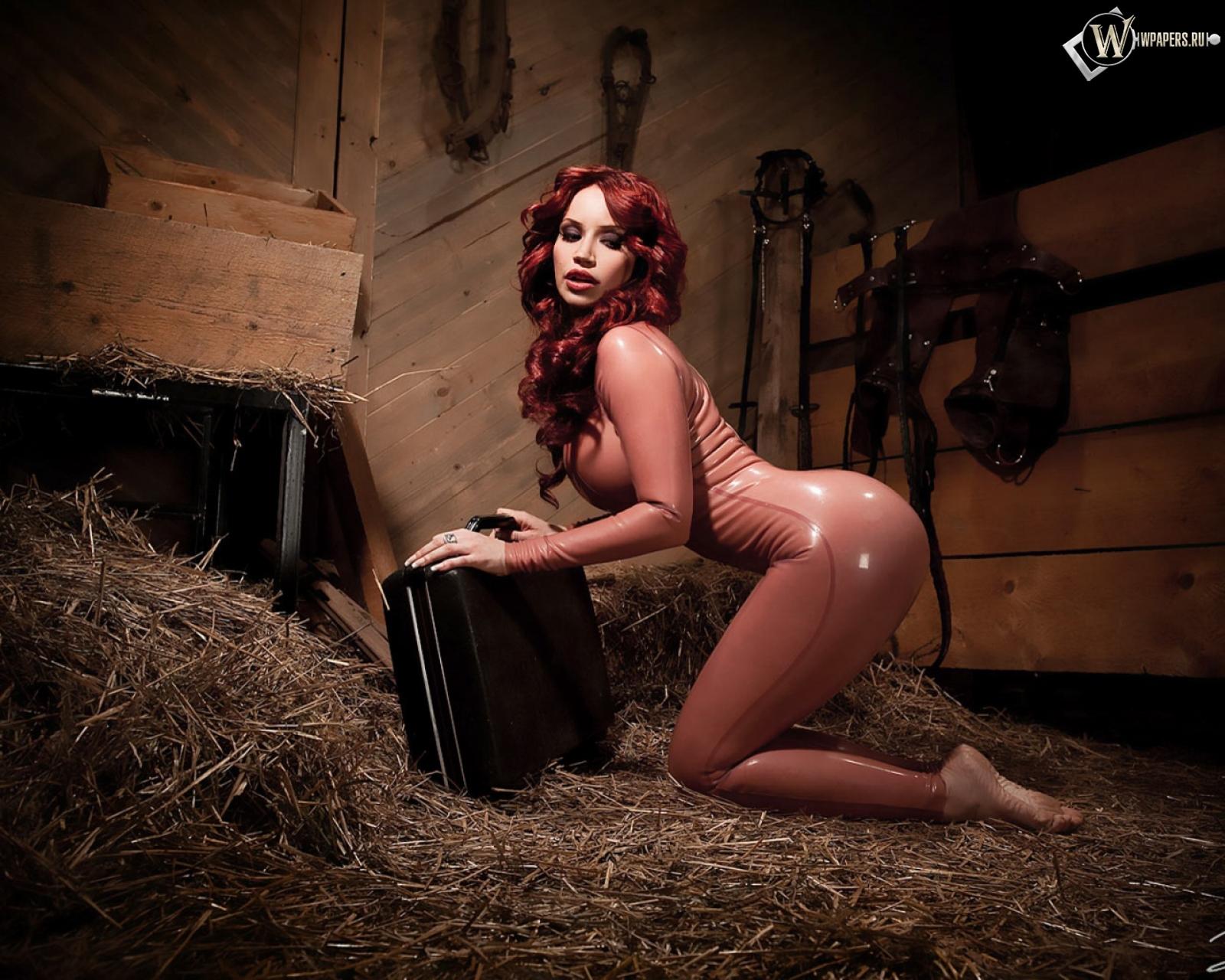 Секси женщина в конюшне фото 3 фотография