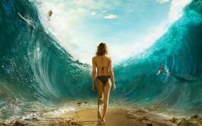 Обои Девушка из воды: Вода, Девушка, Океан, Девушки