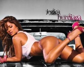 Обои Jessica Burciaga: Девушка, Попа, Капот, Девушки