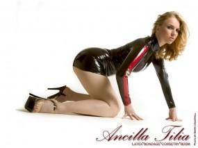 Обои Ancilla Tilia: Девушка, Каблуки, Латекс, Ancilla Tilia, Девушки