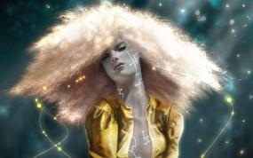 Обои Mel Gama: Девушка, Рисунок, Волосы, Девушки