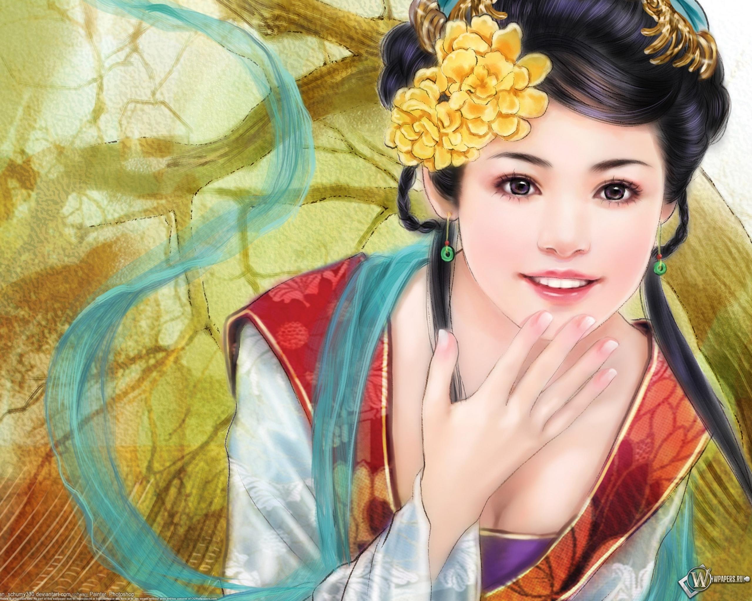 Рисунки японских девушек 16 фотография