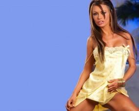 Обои Девушка с эротичными губками: Платье, Девушка, Взгляд, Губки, Девушки