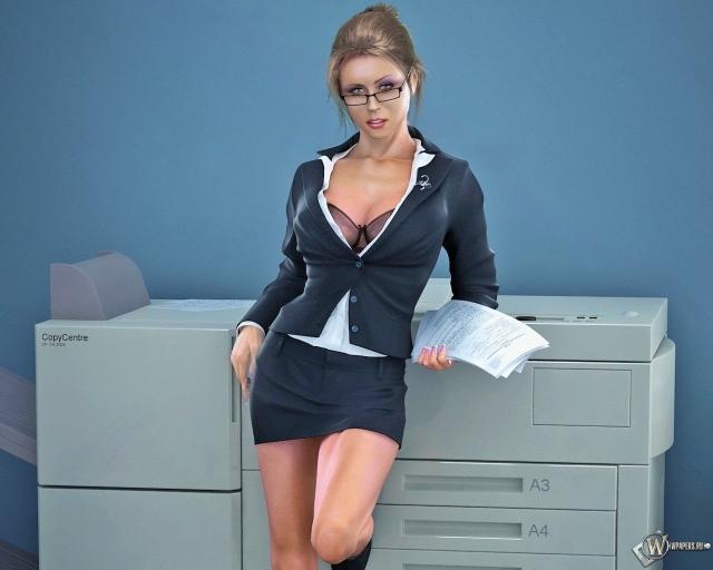 3D соблазнительная секретарша
