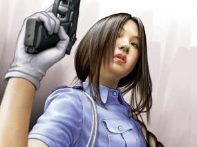Обои 3D Girls: Девушка, Оружие, Пистолет, Характер, 3D Девушки