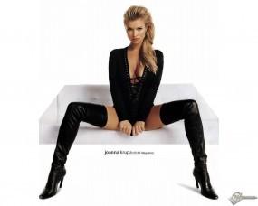 Обои Joanna Krupa: Диван, Сиськи, Сапоги, Глазки, Joanna Krupa, Девушки