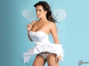 Обои Девушка с крылышками: Ангелочек, Эротика, Секси, Крылышки, Девушки