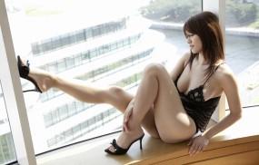Обои Hara Mikie: Ножки, Азиаточка, Hara Mikie, Японка, Девушки