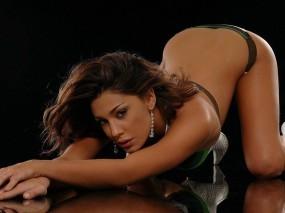 Обои Белен Родригез (Belen Rodriguez): Макияж, Поза, Модель, Серьги, Белен Родригес, Belen Rodriguez, Девушки