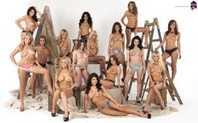 Обои Девушки на стройке: Стройка, Девушки, Девушки