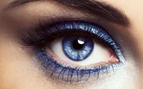 Обои Фиолетовый глаз: Глаз, Фиолетовый, Глаза