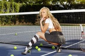 Обои Кейден Кросс на теннисном корте: Большой теннис, Теннис, Kayden Kross, Кайден Кросс, Kayden Kross