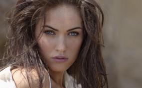 Обои Меган Фокс: Голубые глаза, Megan Fox, Меган Фокс, Лицо, Веснушки, Megan Fox