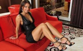 Обои Кристина Ухринова: Платье, Красный, Melisa Mendiny, Кристина Ухринова, Melisa Mendiny