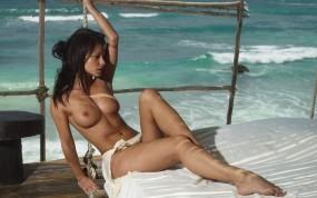 Обои Melisa Mindy: Грудь, Девушка, Океан, Melisa Mendiny, Melisa Mendiny