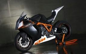 Обои KTM RC8: Мотоцикл, Чёрный, Мотоциклы