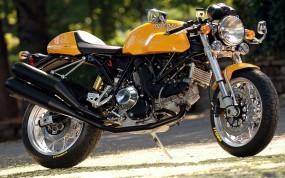 Обои Жёлтый Ducati: Мотоцикл, Ducati, Мотоциклы