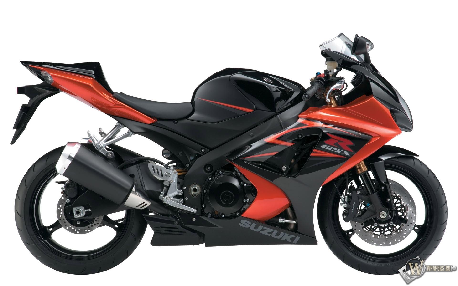 Красный мотоцикл Suzuki 1920x1200