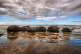 Обои Круглые камни: Вода, Природа, Море, Камни, Пейзаж, Природа