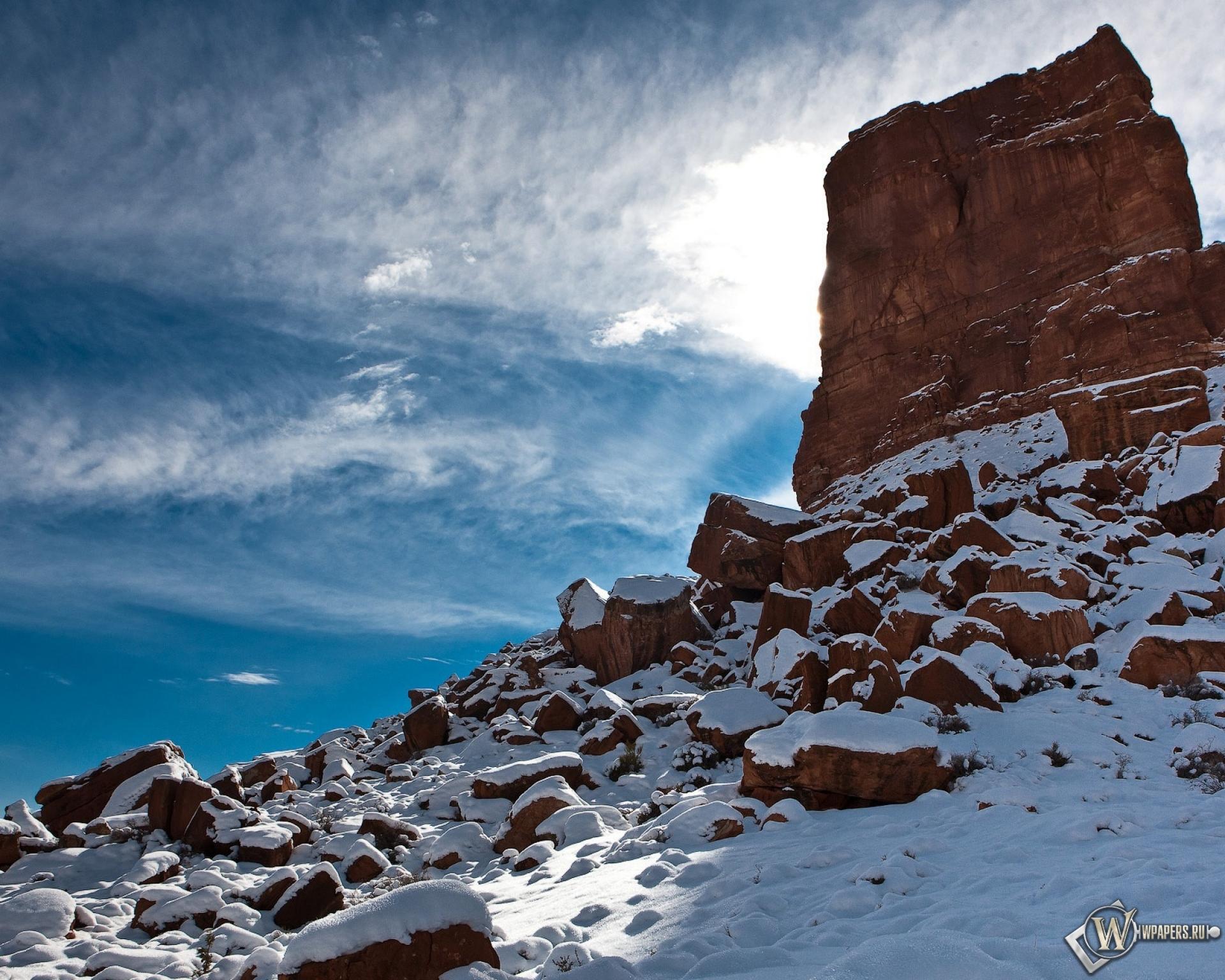 природа небо облака горы скалы  № 514800  скачать
