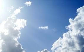 Обои Солнечное небо: Облака, Небо, Голубой, Природа