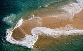 Обои Бирюзовый прибой: Пляж, Море, Волна, Природа