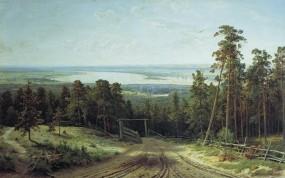 Обои Кама близ Елабуги Шишкин: Картина, Шишкин, Природа