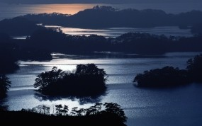 Обои Япония ночью: Ночь, Япония, Природа