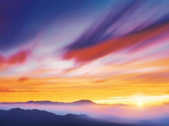 Разноцветные облака