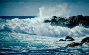Обои Скалы у моря: Волны, Вода, Море, Океан, Скалы, Пейзажи, Природа