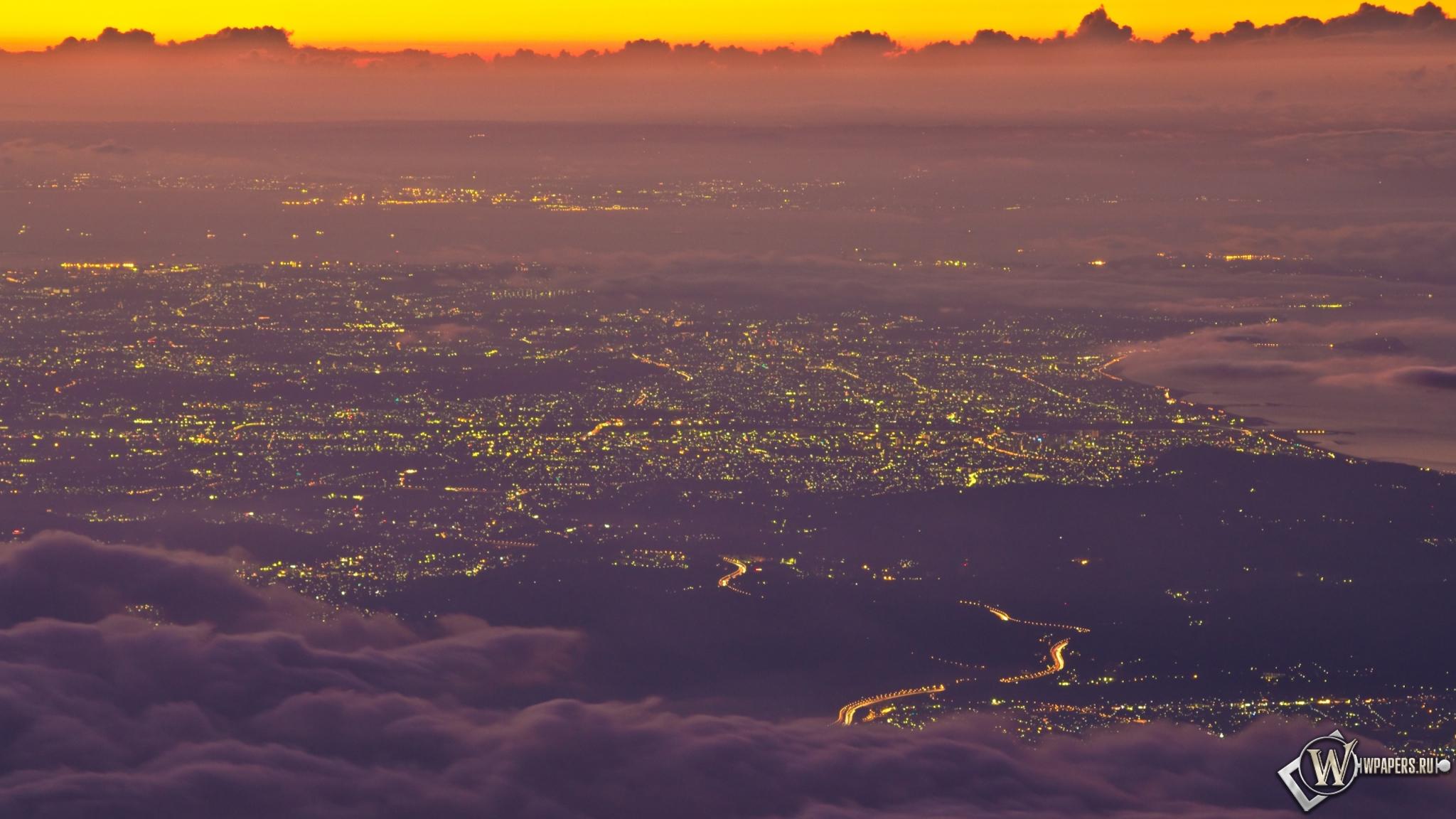 Высота япония пейзаж 2048x1152 картинки