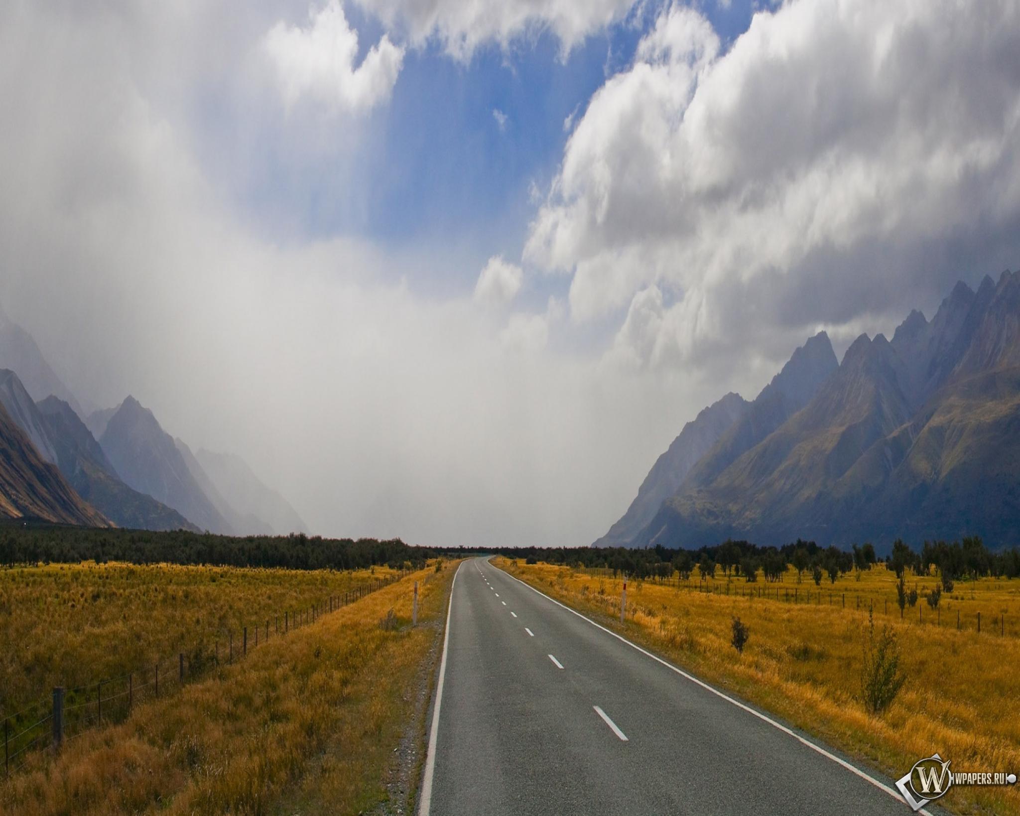 дорога горизонт даль горы  № 3816627  скачать