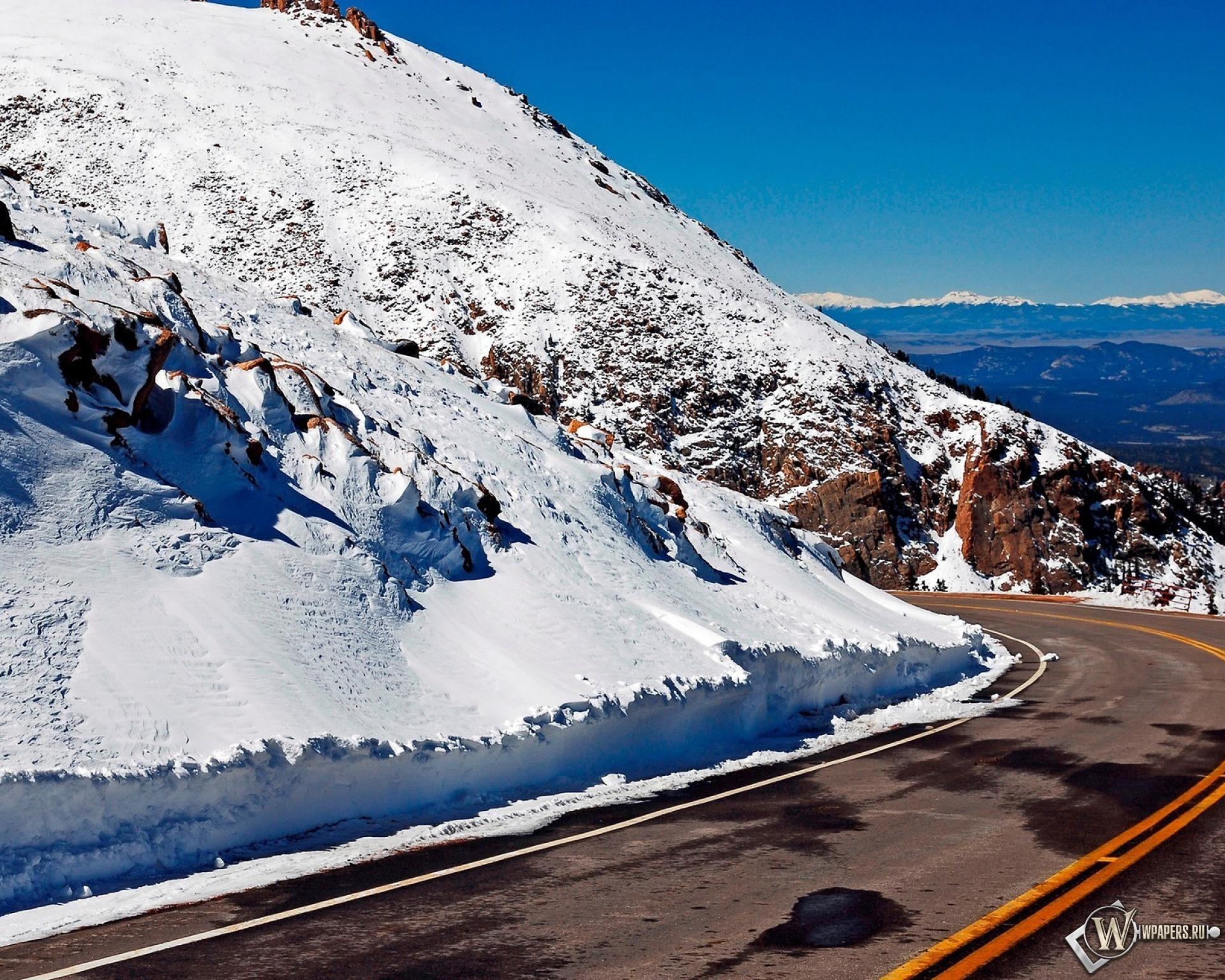 Снег на горных склонах  № 2944977 загрузить